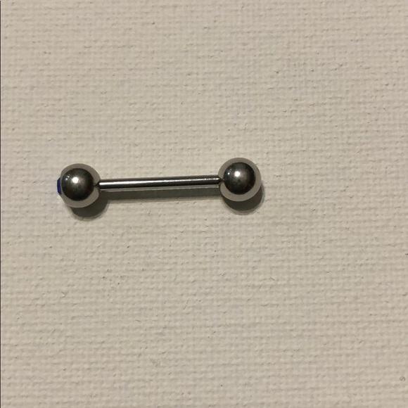 Jewelry - Body jewelry tongue bar.